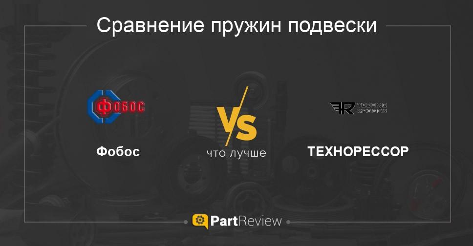 Сравнение пружин подвески Фобос и ТЕХНОРЕССОР